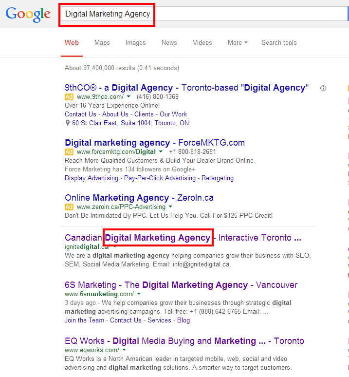 Digital Marketing Agency Google Search