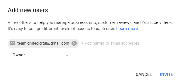 How To Add Users to Google My Business